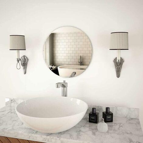 Hommoo Wall Mirror 40 cm Round Glass