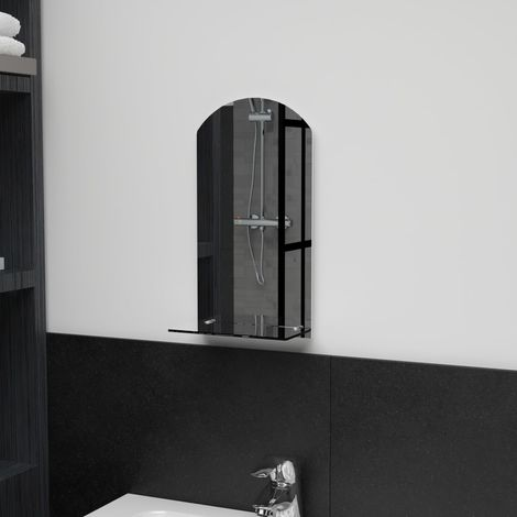 Hommoo Wall Mirror with Shelf 20x40 cm Tempered Glass