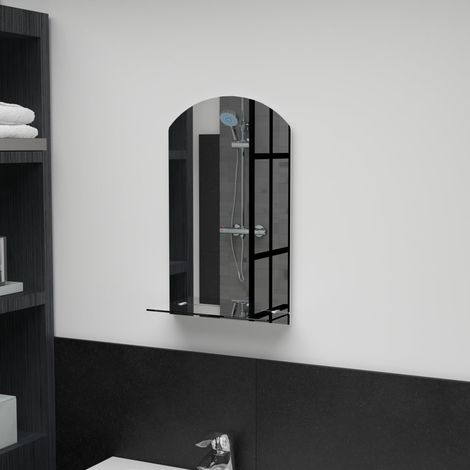 Hommoo Wall Mirror with Shelf 30x50 cm Tempered Glass