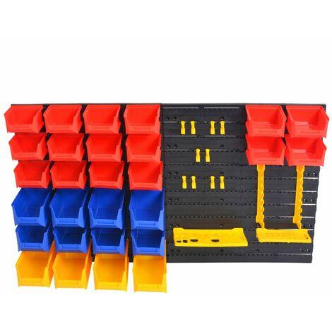 Hommoo Wall-Mountable Garage Tool Organiser QAH04849