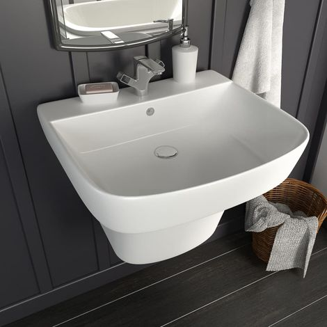Hommoo Wall-mounted Basin Ceramic White 500x450x410 mm