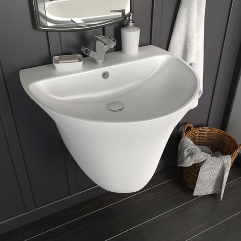 Hommoo Wall-mounted Basin Ceramic White 560x480x420 mm