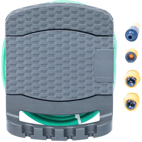 Hommoo Wall Mounted Hose Reel with Hose Plastic Anthracite