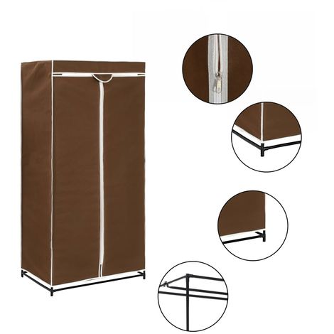 Hommoo Wardrobe Brown 75x50x160 cm VD23551