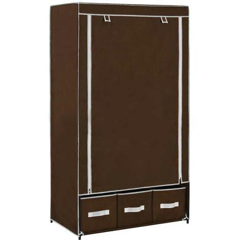 Hommoo Wardrobe Brown 87x49x159 cm Fabric