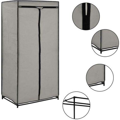 Hommoo Wardrobe Grey 75x50x160 cm VD23553