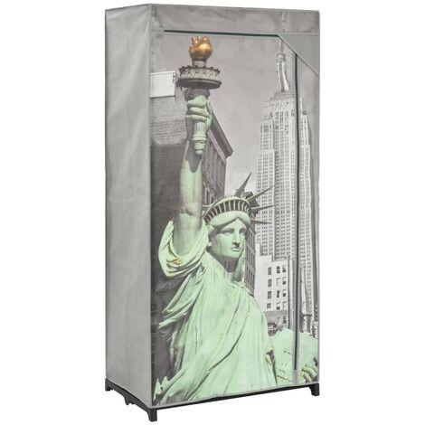 Hommoo Wardrobe New York 75x45x160 cm Fabric