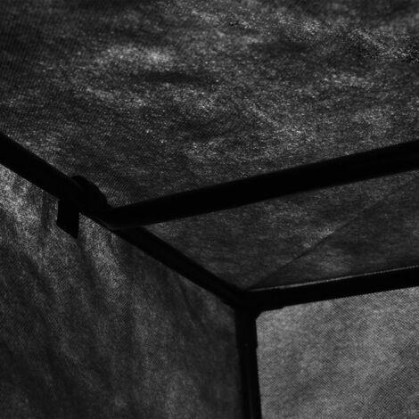 Hommoo Wardrobes 2 pcs Black 75x50x160 cm QAH23554