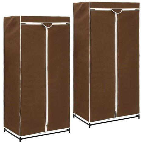 Hommoo Wardrobes 2 pcs Brown 75x50x160 cm VD23555