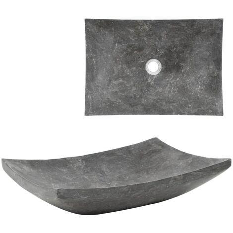 Hommoo Waschbecken 50x35x12 cm Marmor Schwarz DDH04805