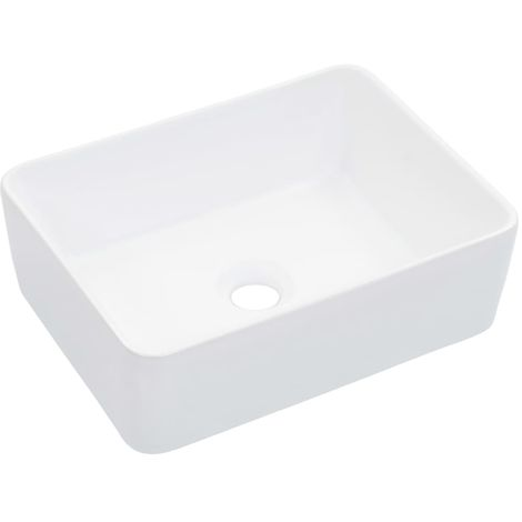 Hommoo Wash Basin 40x30x13 cm Ceramic White