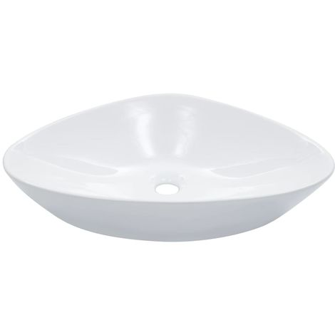 Hommoo Wash Basin 58.5x39x14 cm Ceramic White