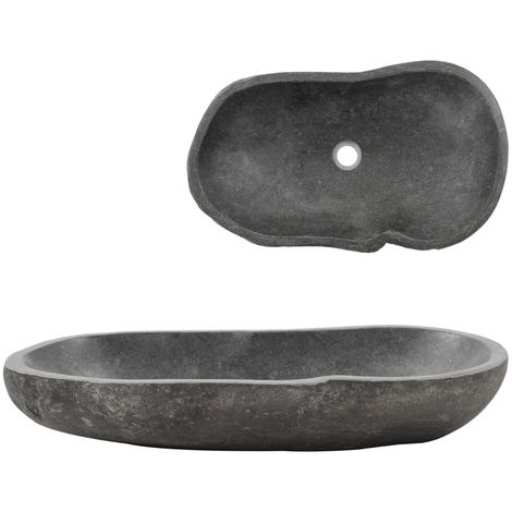 Hommoo Wash Basin River Stone Oval 60-70 cm