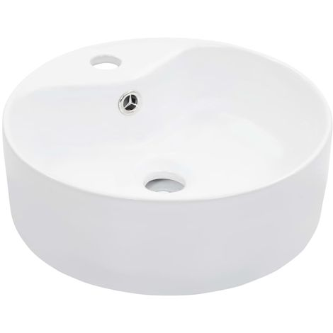 Hommoo Wash Basin with Overflow 36x13 cm Ceramic White VD05797