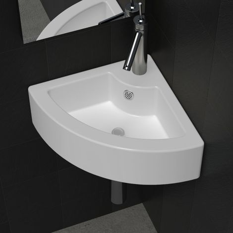 Hommoo Wash Basin with Overflow 45x32x12.5 cm White