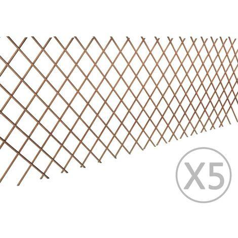Hommoo Willow Trellis Fence 5 pcs 180x90 cm VD03551