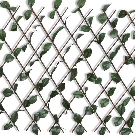 Hommoo Willow Trellis Fence 5 pcs with Artificial Leaves 180x90 cm VD03762
