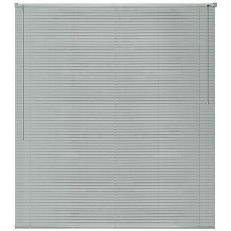 Hommoo Window Blinds Aluminium 100x130 cm Silver QAH09448