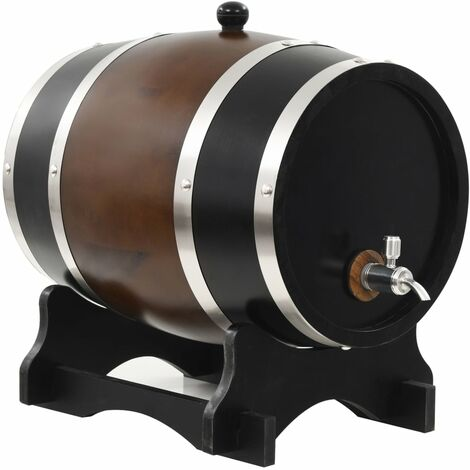 Hommoo Wine Barrel with Tap Solid Pinewood 12 L VD30545