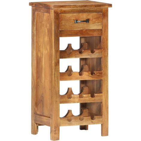 Hommoo Wine Cabinet 40x30x80 cm Solid Acacia Wood