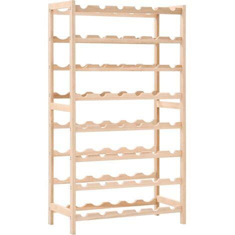 Hommoo Wine Rack Cedar Wood 57.5x28x102 cm QAH12372