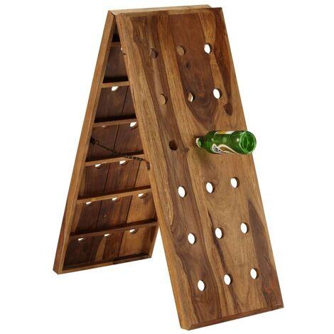 Hommoo Wine Rack for 36 Bottles Solid Sheesham Wood