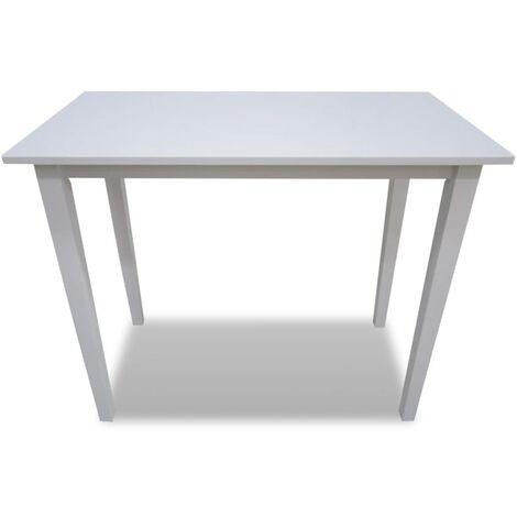 Hommoo Wooden Bar Table White QAH08928