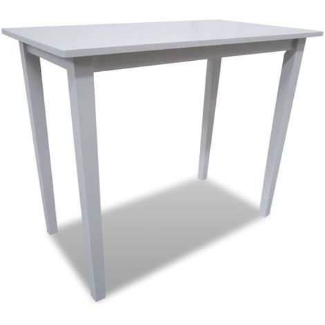Hommoo Wooden Bar Table White VD08928