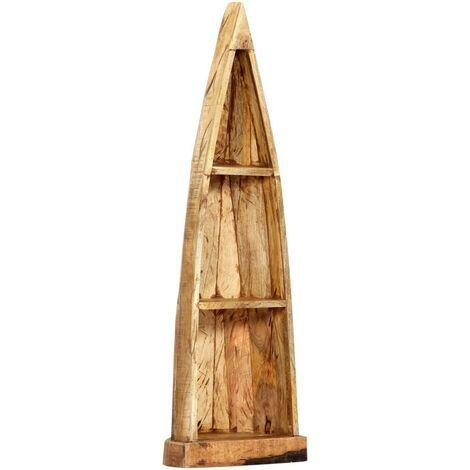Hommoo Wooden Boat Cabinet 40x30x130 cm Solid Mango Wood
