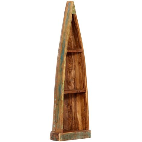 Hommoo Wooden Boat Cabinet 40x30x130 cm Solid Reclaimed Wood