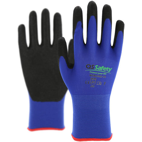 Hommoo Work Protection Gloves in Nylon and Polyurethane Size - Set of 3 pairs - Different size available