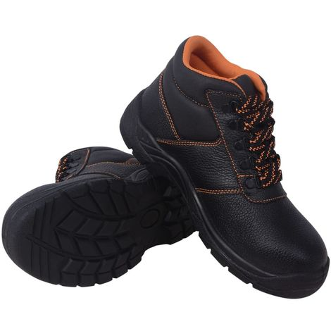 Hommoo Zapatos de seguridad tobillo alto Negros Talla 43 Cuero