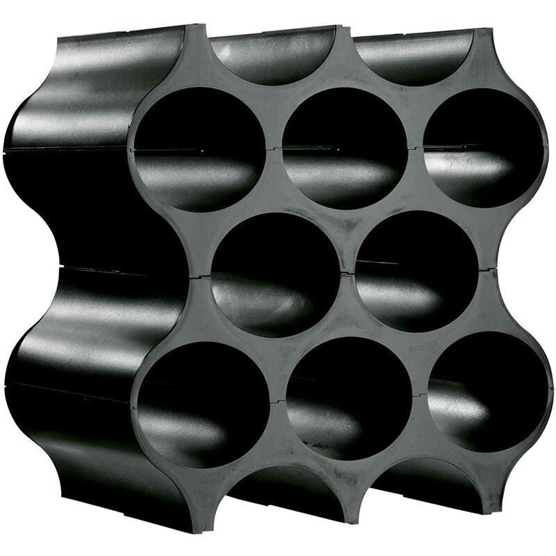 Image of Honeycomb Wine Bottle Rack - Black - A PLACE FOR EVERYTHING