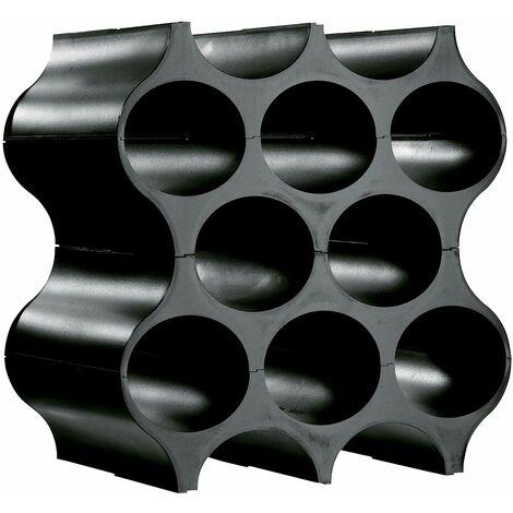Honeycomb Wine Bottle Rack - Black