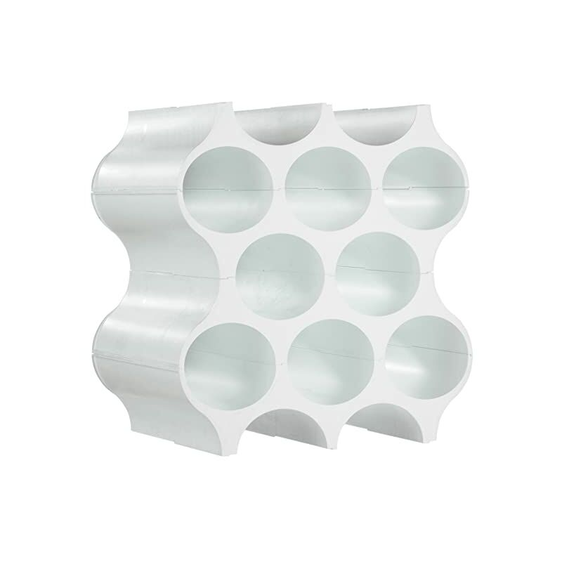 Image of Honeycomb Wine Bottle Rack - White - A PLACE FOR EVERYTHING