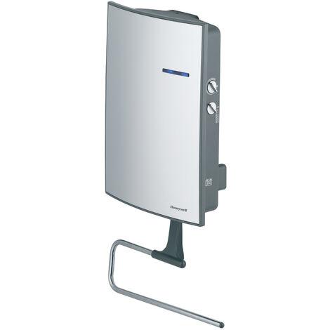 Honeywell - Calefactor de baño con toallero, potencia 1000-2000W Frontal de acero satinado