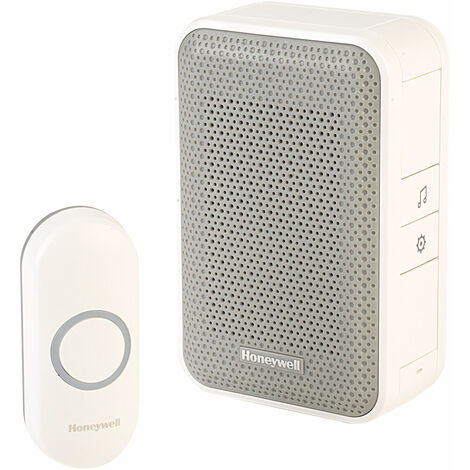 Honeywell DC311NBS WF Chime Kit 150m 4 Tunes 80dB White Plug-In Doorbell