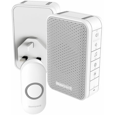 Honeywell DC313NHGBS Home & Garden Doorbell Kit (1 Portable & 1 Plug-In, 1 Push)