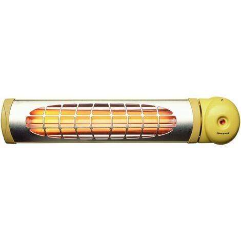 Honeywell - Estufa calefactor cuarzo con resistencia protegida, potencia 600W