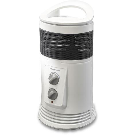 Honeywell - HZ-425E Calefactor cerámico envolvente 360º, potencia 1800W. Color blanco