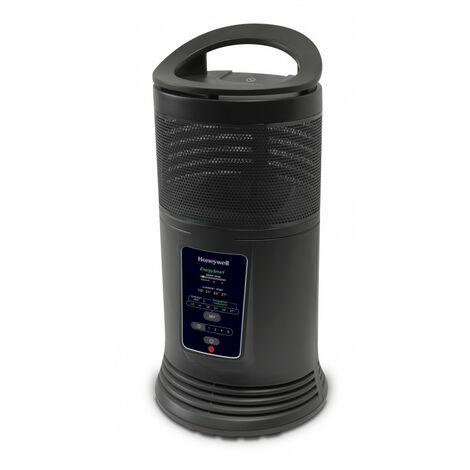 Honeywell HZ-435E - Calefactor cerámico con rotación de 360º con tecnología Energy Smart. Potencia 1800W