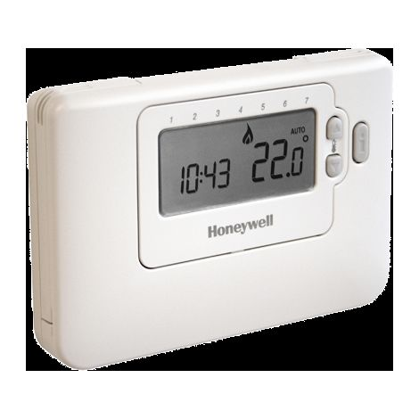 Honeywell - Thermostat digital programmable hebdomadaire filaire - CM707