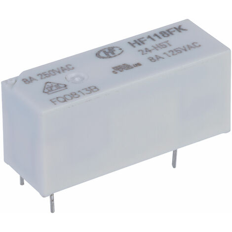 Hongfa HF118FK/24-H5T PCB Relay 24VDC SPST-NO 8A