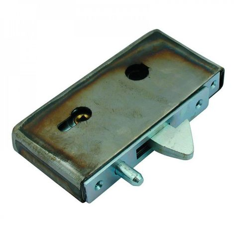 Hook gate lock with a box for wicket gates