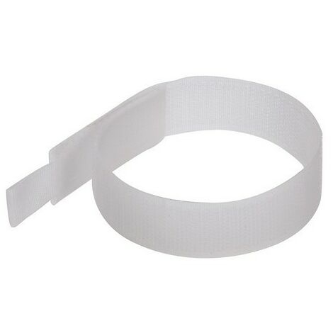 Fixman 849309 Hook & Loop Cable Ties 150mm White Pack of 10