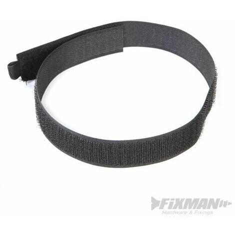 Hook & Loop Cable Ties 10pk - 450mm Black (378153)
