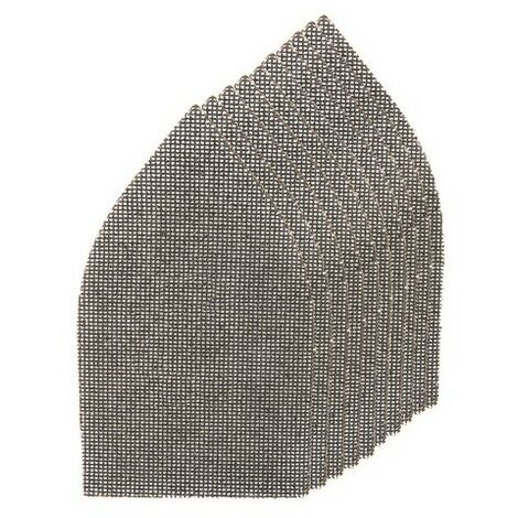 Silverline 576005 Hook & Loop Mesh Triangle Sheets 175 x 105mm 10pk 4 x 40G, 4 x 80G, 2 x 120G