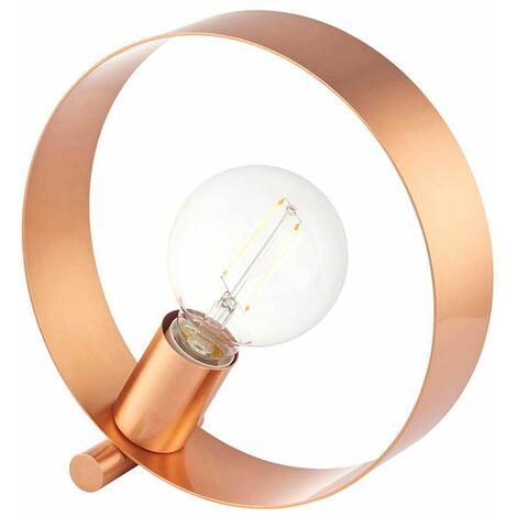 Hoop Table Lamp Brushed Copper Steel