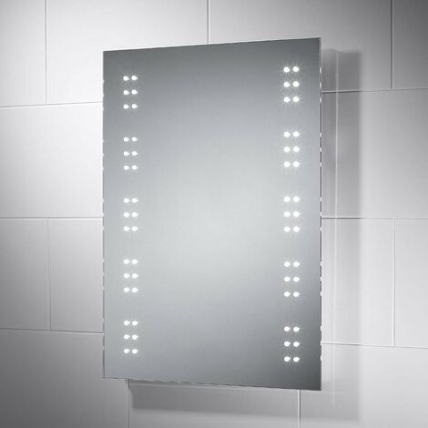 Horizon Battery Powered LED Illuminated Mirror With Rocker Switch 500mm x 700mm