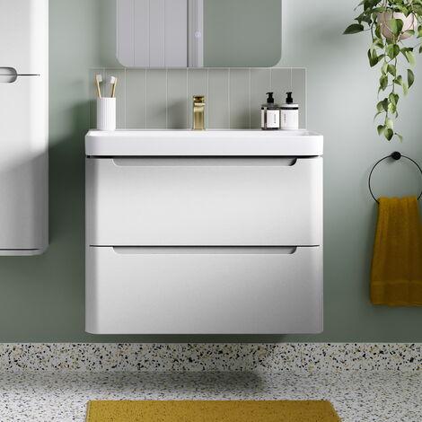 Horizon Tahoe 500 Wall Hung Bathroom Vanity unit and Basin in White